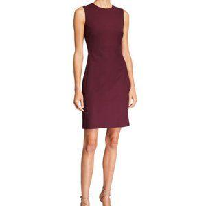 Theory Betty 2B Sleeveless Dress in Dark Burgundy